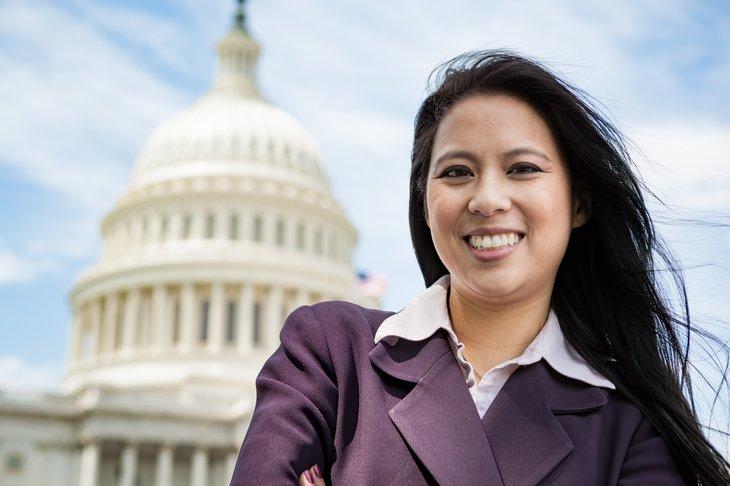 Woman in Washington, D.C.